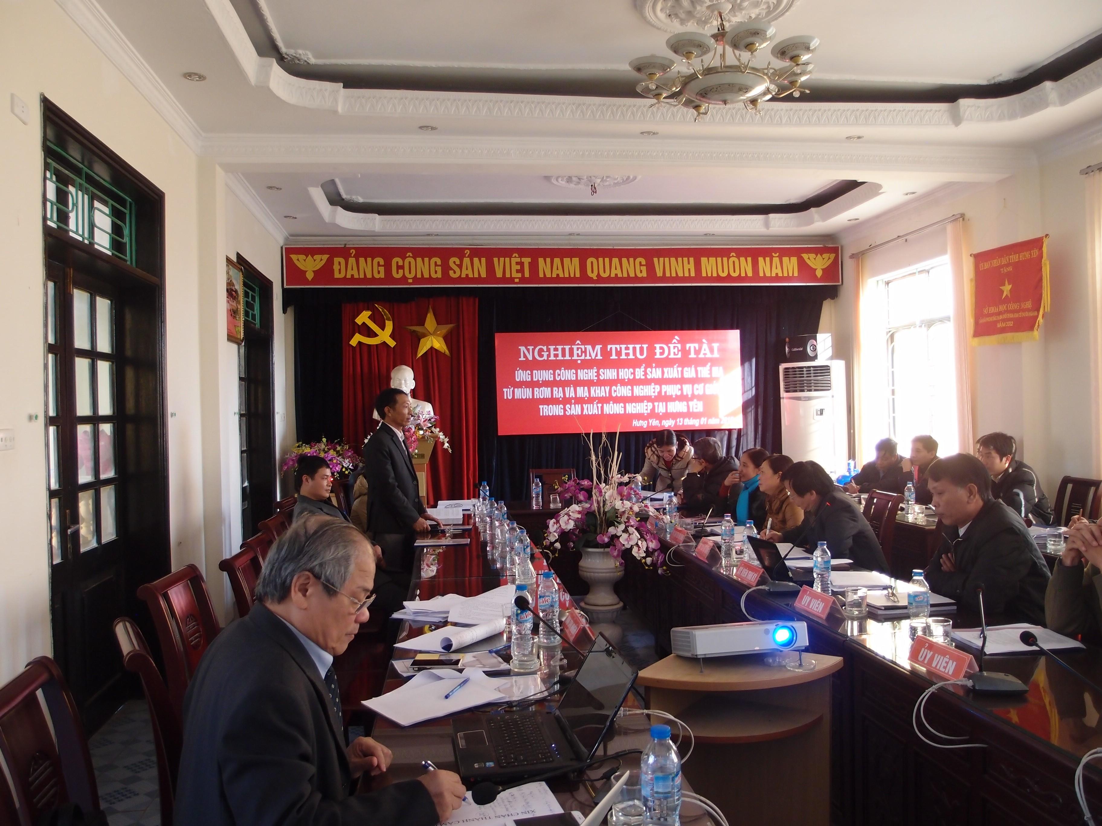 Hưng Yên tổ chức nghiệm thu đề tài mạ khay của Công ty cp Công nghệ sinh học năm 2014