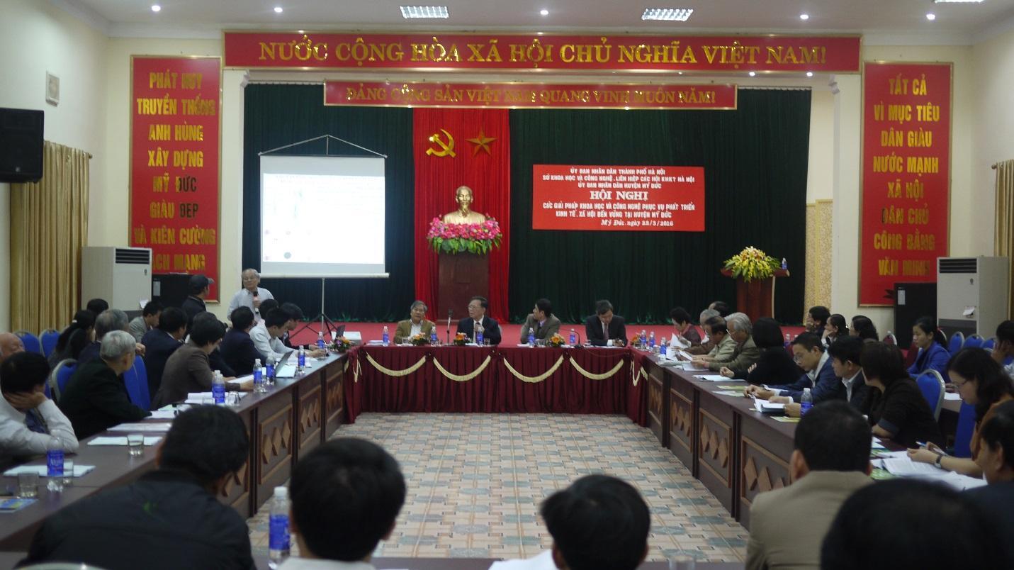 Hội nghị các giải pháp Khoa học và công nghệ phục vụ phát triển kinh tế xã hội bền vững tại huyện Mỹ Đức – Tp Hà Nội.